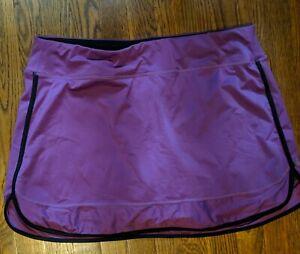 Women's, Athleta Size 2X Purple Trimmed In Black Skort
