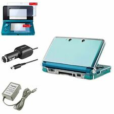 4 Accessory Bundle Charger Case Film For Nintendo 3DS New