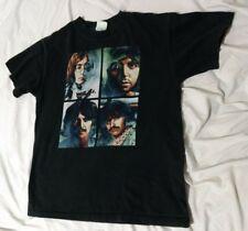 The Beatles Apple 2005 Print T Shirt Black Distressed Washed Black sz S Men