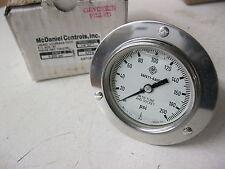 """McDaniel KFPS 200psi SS Pressure Gauge 2-1/2"""" Flange Mount Stainless Steel 1/4"""""""