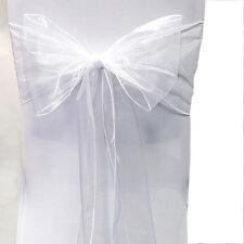 Wedding Organza Satin Chair Cover Sash Bow Ribbon Party Banquet Hotel Decor