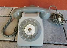 ANCIEN vintage TELEPHONE gris SOCOTEL S63 PTT old french GREY phone ALT TELEFON