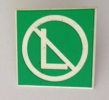 No Left Green Street Sign Pin Badge Quality Retro Vintage (N2)