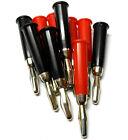 C0109 RC 4mm 4.0mm Nickel Rot und Schwarz Kugel Anschlüsse X 5 Set