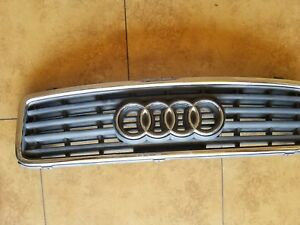 2003 2004 2005 2006 AUDI A4 CONVERTIBLE CHROME/BLACK GRILLE GRILL NICE OEM