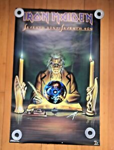 IRON MAIDEN Vintage Seventh Son Poster Never Hung Funky Ent.