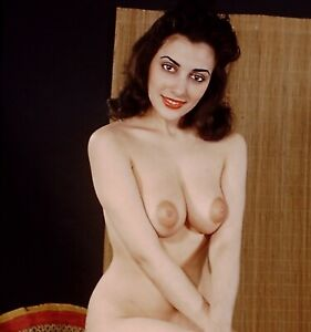 Vicki Palmer Pin-up Nude 1950's Stereo Realist slide 3D Stereoscopic