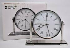 Howard Miller Universal Alarm Clock Polished Chrome Roman Numerals NEW