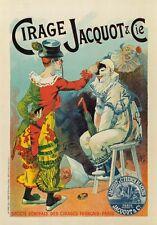AP26 Vintage Français polonais Cirage Jacquot publicité affiche carte A5 de la chaussure