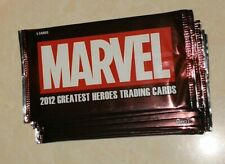 2012 MARVEL GREATEST HEROES TRADING CARDS LOT 20 PACKS