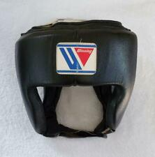 Winning Boxing Headgear For Old Amateur M Size Black Color Rare Used