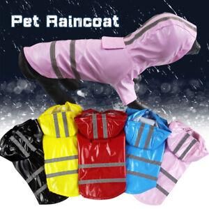 Waterproof Dog Hooded Raincoat Rain Coat Pet Jacket Puppy Clothes Pet Costume