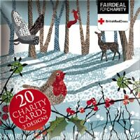 Box of 20 Winter Forest British Red Cross Fairdeal Charity Christmas Cards Boxed