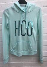 New Womens Girls Hollister Hoodie Hooded Top XS Mint Green Sweatshirt Casual