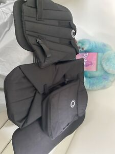 Bugaboo Donkey 2  Black Seat Fabric and Carry Cot Fabric Board with Apron. New