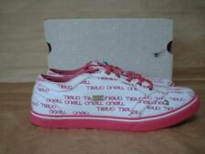 ONEILL UK 6 1/2 KICKER PINK WHITE & PINK CANVAS TRAINERS BOXED