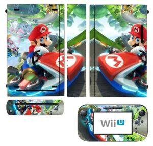 MARIO KART Nintendo Wii U Vinyl Skin STICKER Protector for Console & Controller