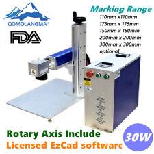 30W Split Fiber Laser Marking Machine Metal Engraving Equipment Engraver FDA