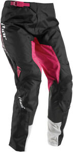 Thor Womens White/Magenta Pink Pulse Facet Dirt Bike Pants MX ATV MTB BMX 2017