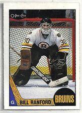 Bill Ranford 1987-88 O-Pee-Chee Boston Bruins ROOKIE RC Card #13