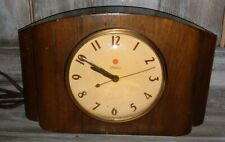 Vintage Warren Telechron Electric Mantel Clock Model 4H87 Dark Wood Works Great