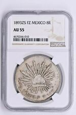 1893ZS FZ Mexico 8 Reales NGC AU 55 Witter Coin