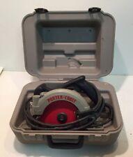 "Porter Cable 743 7"" Circular Saw Framesaw Left Blade Lefty W/case, New Blade VGC"