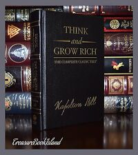 Think Grow Rich by Napoleon Hill New Sealed Leather Bound Deluxe 2 Day Ship