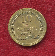 Romania 10 LEI 1930s rare Kingdom counter token GLORY HEROES Arch of Triumph