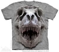 T-Rex Big Skull T-Shirt by The Mountain. Big Face Dinosaur Sizes S-5XL New