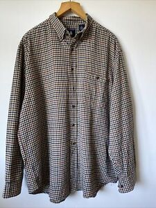 Vintage Roundtree & Yorke Flannel Shirt Check XL Country Farming Work