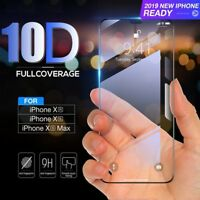 For iPhone X XS MAX XR 10D Full Covered Real Tempered Glass Screen Protector
