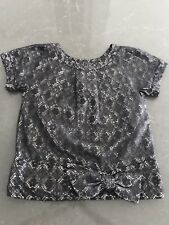Marc by Marc Jacobs Lace Blouse (black with silver sparkle) bow detail
