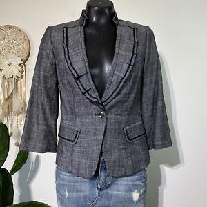 Size 4 Womans WHITE HOUSE BLACK MARKET Sustainable Lyocell Linen Blend Jacket