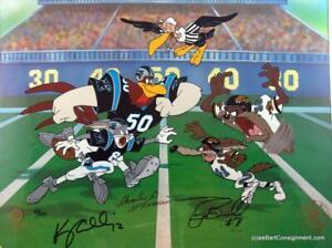 WARNER/NFL Football Cel Signed McKimson, Kerry Collins,Tony Bocelli, Ltd.#63/250