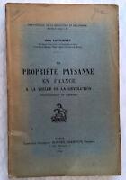 1912 LIMOUSIN PROPRIETE PAYSANNE VEILLE REVOLUTION LOUTCHISKY RARE LIVRE HISTOIR