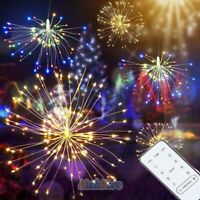 180 LED Hanging Firework Fairy String Lights 8 Modes Party Home Decor + Remote