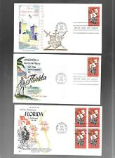 US FDC FIRST DAY COVERS # 1271 FLORIDA 1965  NO ADDRESS LOT OF 12 MANY BETTER