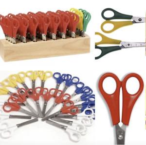 Children's School Scissors Right & Left Handed 32 Pair Classpack Storage Block U
