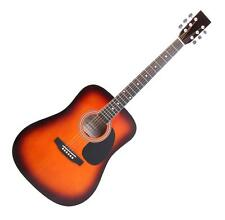 GUITARE ACOUSTIQUE FOLK WESTERN BLUES DREADNOUGHT 20 FRETTES 6 CORDES SUNBURST