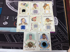 Lot of 8 2015 2017 Allen & Ginter Relic Card jersey cards lot Puig, Sabathia,