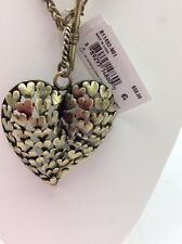 $58 Betsey Johnson Throwback Betsey Large Heart Pendant Necklace V8