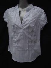 BNWT Ladies Sz 12 Pink/Blue Stripe Short Sleeve Shirt