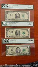 Rare Investment Grade PCGS LOT 35, 45, 55 1976 $2 D*, G*, and I *