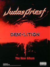 Judas Priest 2001 Demolition Rare Promo Poster