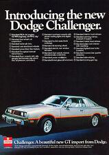 1978 Dodge Challenger - Mitsubishi - Classic Vintage Advertisement Ad PE95
