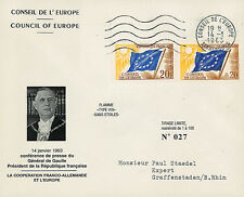 """CE14-IIIaT1 FDC Council of Europe """"DE GAULLE - Franco-German Cooperation"""" 1963"""