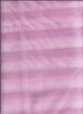 New Pink Striped Polyester Fleece Fabric by the 1/4 yard