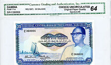 Gambia ... P-11a ... 25 Dalasis ... ND(1987) ... *UNC*