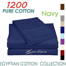 1200TC Egyptian Cotton Collection Quilt/Doona/Duvet Cover Set Navy King
